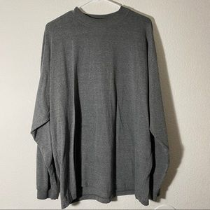 [ highland ] gray vintage oversized long sleeve